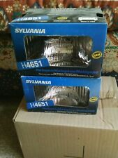 "H4651 Sylvania USA Halogen NOS O.E. High Beam Headlight 6-1/2"" x 4"" - PAIR of 2"