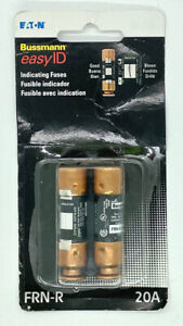 Eaton Cooper Bussmann easyID Indicating Cartridge Fuses 2-Pack FRN-R-20ID