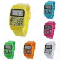 Multi-Purpose Unixes  Electronic Calculator Watch Silicone Band Wrist Watch Hot