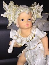 Vtg Montefiori Collection Fairy Baby Winged Angel Girl Figurine