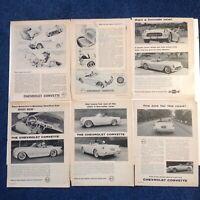 Original 1953 1954 Corvette Motor Trend magazine ads advertisements Blue Flame