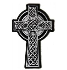 Celtic Cross Patch Embroidered Iron On Sew On Irish Religious Patch Biker