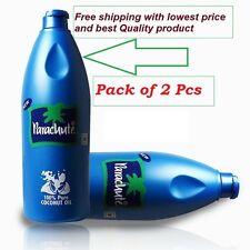 2 X INDIAN PARACHUT HAIR OIL 100% PURE COCONUT OIL 100ml HELPS FOR GROWING HAIR