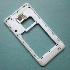 Genuine Samsung GT-i9100 Galaxy S2 II rear housing+camera glass side frame White