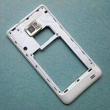 ORIGINALE Samsung GT-I9100 Galaxy S2 II Alloggiamento Posteriore + fotocamera glass frame bianco