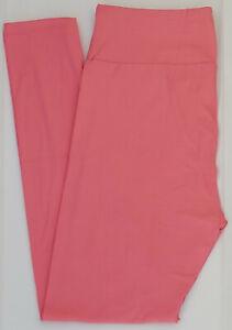 TC LuLaRoe Tall & Curvy Leggings Beautiful Solid Blush Rose Pink NWT 25