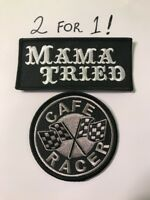 Iron On Sew 2 PACK On Mama Tried patch Haggard Chopper Merle Brat CAFE RACER (2)