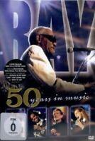 RAY CHARLES - 50 YEARS IN MUSIC (FEAT. STEVIE WONDER/+) DVD  14 TRACKS POP NEU