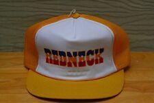 Rare Vtg Redneck Yellow Mesh Trucker Snapback Hat Cap Southern Country