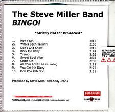 THE STEVE MILLER BAND Bingo! UK 10-trk watermarked/numbered promo test CD sealed