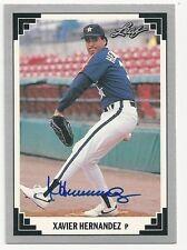 Autographed/Signed 1991 Leaf #462/Xavier Hernandez/Houston Astros