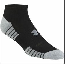 Under Armour HeatGear athletic Tech No Show Socks 3 Pack pairs black size S M L