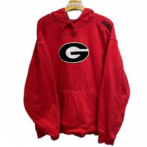 Nike Georgia University bulldogs mini center swoosh hoodie sweatshirt large