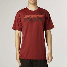 Fox Racing ACTIVE Men's T Shirt Mako Tech Tee Heather Red S Small 14687
