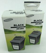 2 x Genuine/Authentic Samsung Ink-M55 Black Ink/Printer Cartridge - Sealed
