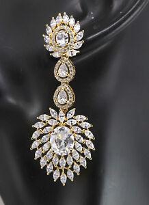 Cubic Zirconia Chandelier Exquisite Fashion Earrings D2