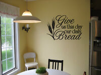 GIVE US THIS DAY OUR DAILY BREAD STICKER VINYL WALL DECAL QUOTE BIBLE VERSE