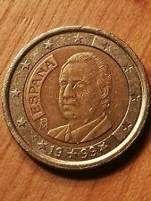 Moneta 2 Euro 1999, Re Juan Carlos I,  Espana, Spain, Spagna defect errore conio