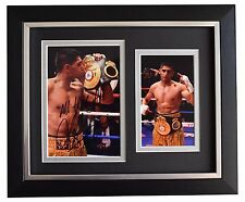 Amir Khan Signed 10x8 Framed Photo Autograph Display Boxing Sport Aftal Coa