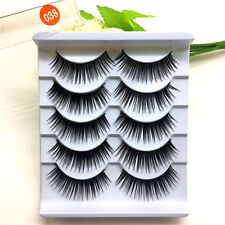 5 Pairs Black Thick False Eyelashes Long Fake Eye Lashes Extention Makeup Tools
