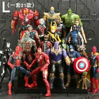 21Pcs/Set SaleMarvel Avengers Figure Super Heroes SpiderMan Black Panther Hulk