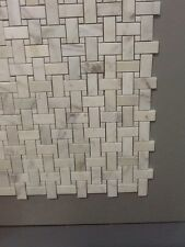 MARBLE Calacatta gold  BASKETWEAVE POLISHED   TILE MOSAIC