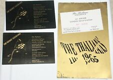 THE THALIANS ANNUAL GALA BALL OCTOBER 2 1965 TICKET PROGRAM LOT BEVERLY HILTON
