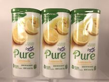 (3) Crystal Light Canister PURE LEMONADE Tea 10 Quart Drink Mix