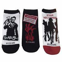 Walking Dead Ladies Daryl 3 Pairs Of Low Cut Socks NEW Zombies