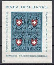 Schweiz Block 21 NABRA in Bern 1971 mit Ersttagstempel 11.3.1971