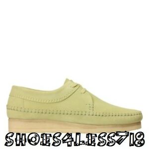 NEW CLARKS ORIGINALS MEN WEAVER LOW LIMITED EDITION SAGE GREEN SUEDE MOCCASSIN