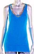 NWT DRESSY Womens STOOSH Scoop Neck BLUE JERSEY Racerback DECO Tank Top  LRG $34