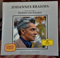 "DGG LARGE TULIP #7 LPs BOX GERM BRAHMS ""Symphonies & C.to Violin"" KARAJAN #438"