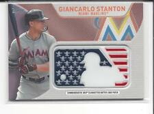 * GIANCARLO STANTON * 2017 TOPPS USA FLAG COMMEMORATIVE SILHOUETTED LOGO PATCH