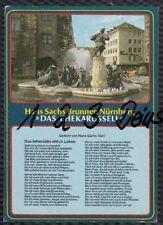 1068Q) Ansichtskarte  AK  Nürnberg  Hans Sachs Brunnen  Das Ehekarusell Gedicht