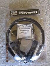 GWP sport HEADPHONES,DJ Style Fully Adjustable,Black/SL