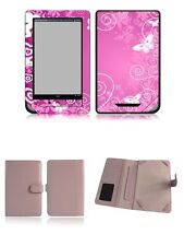 Happybird Nook Tablet Nook Color Case Cover with skin combo-pink set1(N059)