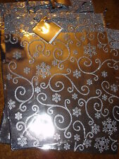 """SILVER GIFT BAGS WITH CARDS AND RED BAGS10 1/2"""" X 12 1/2"""" LOT 7"""