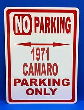 "1971 Camaro  Novelty No Parking Street Sign 7""X10"""