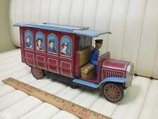 1960s Modern Toys Japan Bus Trolley Lithographed Tin Masudaya