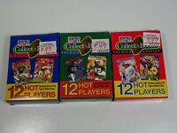 NFL Pro Set CollectABooks Box 1990 Series 1, 2, and 3 Gridiron Trading Cards
