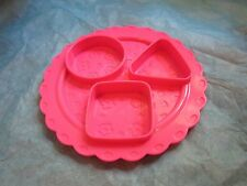Fisher Price Fun with Food Plate For Shape Dessert Replacement Part Pink 2008