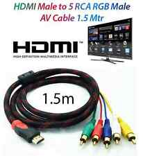 1.5m 1080p HDMI Male to 5 RCA RGB Audio Video AV HDTV  Component Composite Cable