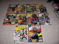 Wizard The Comic Magazine X-men XMEN Wolverine Cyclops 2000 to 2004 10 issues!