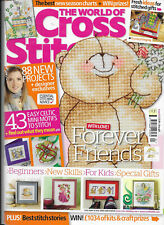 The World of Cross Stitching Iss 162 Joan Elliott Teddies Elephant Fairy