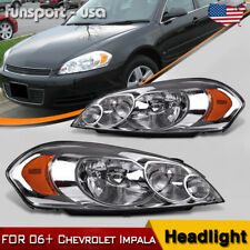 for 06 07 Monte Carlo 2009-2013 Chevy Impala Headlights Replacement Headlamps US