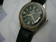 Vintage 1960s Vietnam Era Military Zodiac Sea Wolf, Black Dial, Unpolished