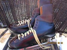 Vintage Men's Ice Skates-Sss Brand-Size 11 Maroon/Brown & Black ~Decor~ Nice!