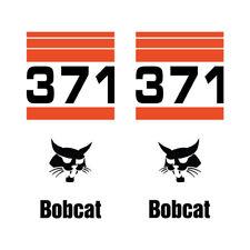 Bobcat 371 Skid Steer Set Vinyl Decal Sticker Free Shipping