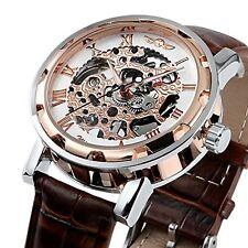 ESS Men's Brown Vintage Semi Mechanical Wrist Watch WM424 - Imported